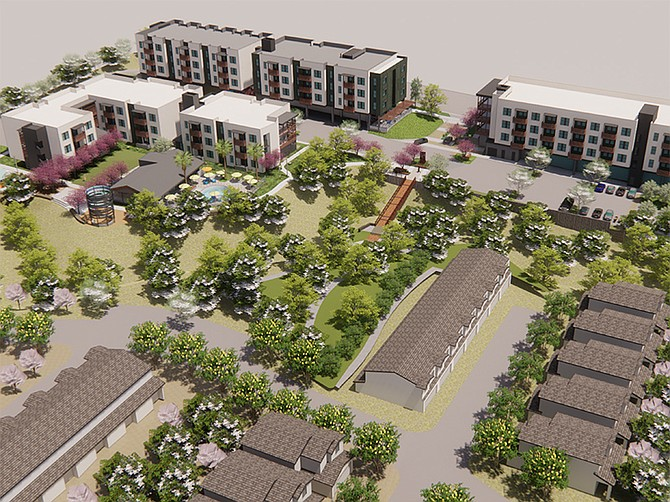 Rendering courtesy of Affirmed Housing. The Orchard at Hilltop will have 113 affordable apartments with completion estimated for early summer 2022.