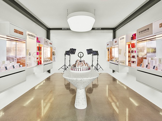 Beautycounter's new Venice store doubles as a livestream studio.