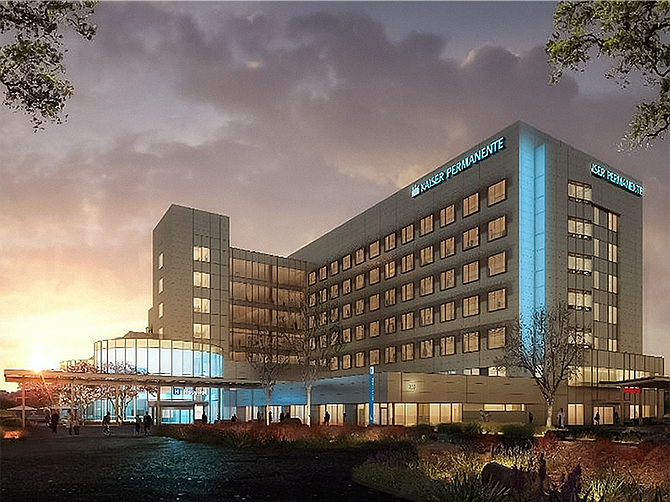 Rendering courtesy of Kaiser Permanente. Kaiser Permanente is building a new hospital in San Marcos, scheduled to open in 2023.
