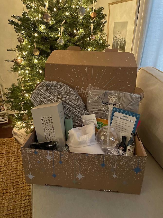 FabFitFun sent its employees a gift box.