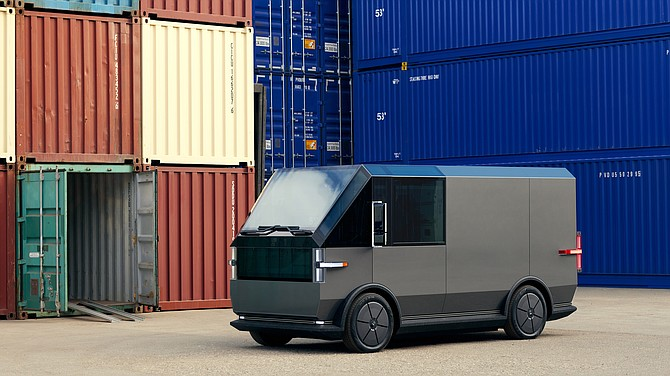 Canoo's delivery vehicle starts at around $33,000.