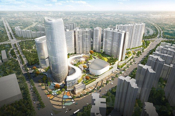 Jerde's Gardens project in Foshan, China, is a mixed-use property.