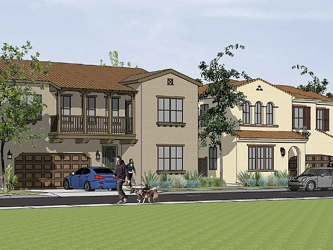 Rendering courtesy of Trumark Homes. Trumark Homes is planning a development of 301 homes in Oceanside at the corner of Oceanside Boulevard and Melrose Drive.