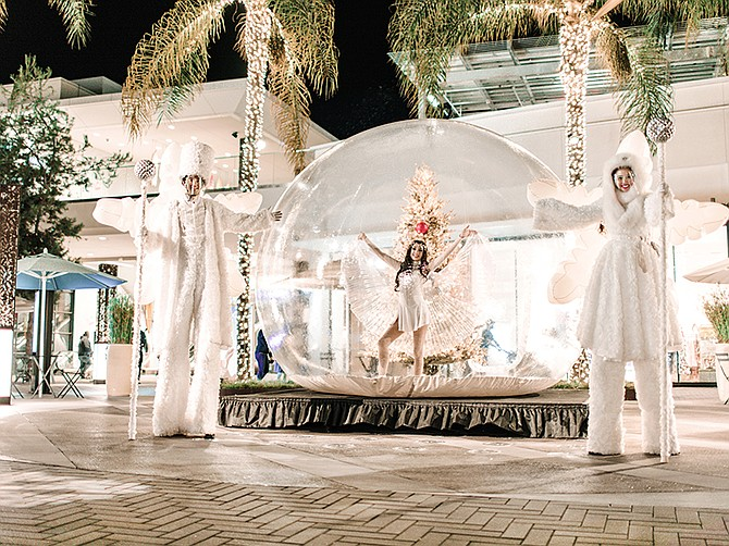 Photo courtesy of Unibail-Rodamco-Westfield. Unibail-Rodamco-Westfield, with four centers in San Diego, is hosting a life-sized snow globe collection for the holidays at Westfield UTC.