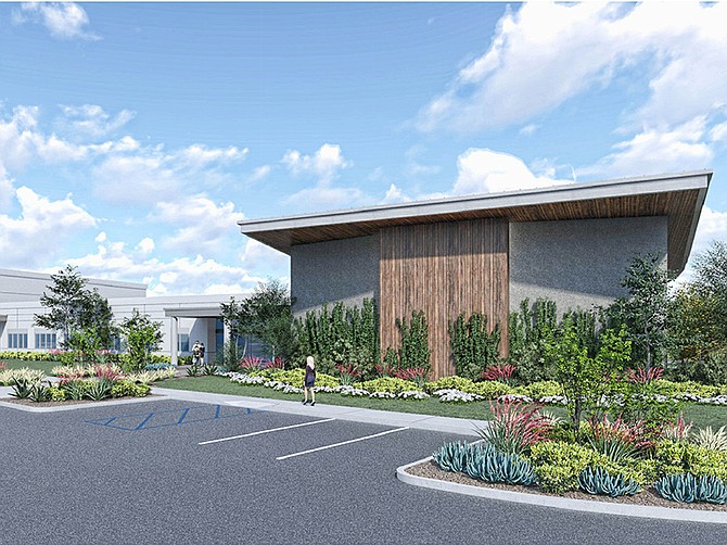 Rendering courtesy of Pacific Cornerstone Architects. A $40 million Otay Mesa campus for the Salvation Army is scheduled for completion in April 2021.