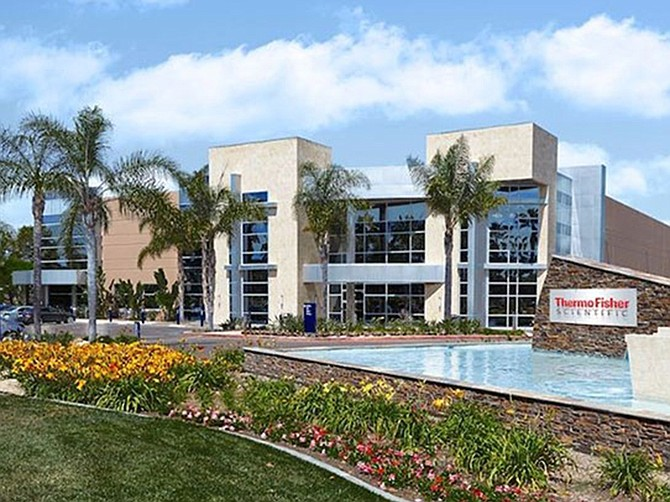 Thermo Fisher Scientific is renovating a 67,000 square-foot building on its Carlsbad campus.