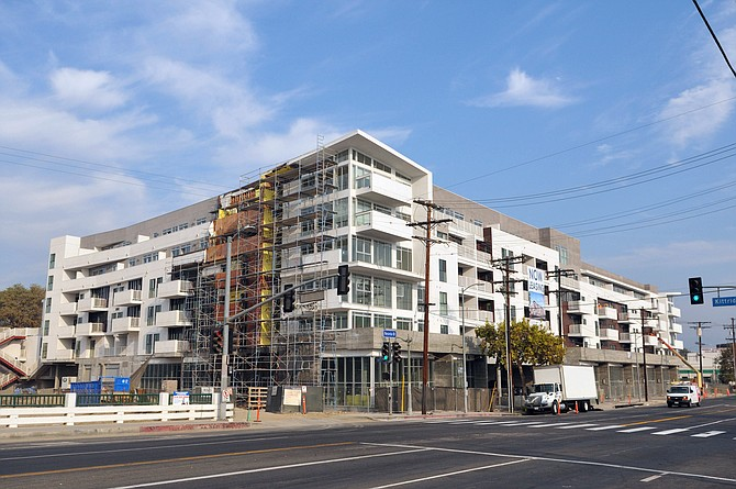 Watermark Apartments during construction in Reseda.