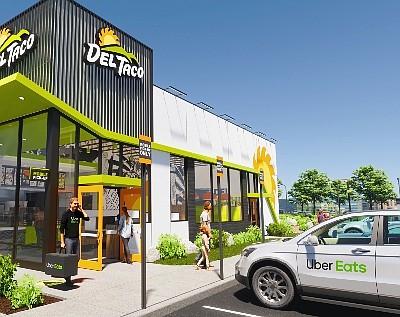 A rendering of Del Taco's new Fresh Flex restaurant design.