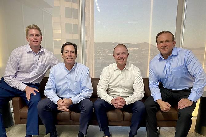 Colliers International's brokerage team includes, from left, Billy Walk, David Harding, Matt Dierckman and Greg Geraci.