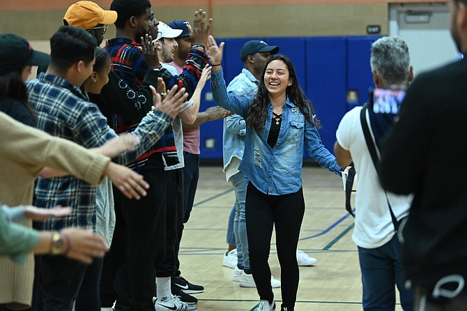 Good City Mentors' end of year celebration at Helen Bernstein High School in Hollywood in 2019.