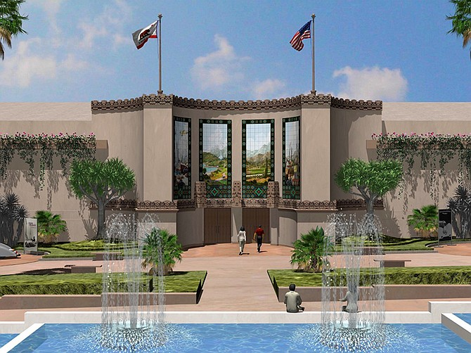 Rendering courtesy of Barnhart-Reese Construction. Renovation of the Balboa Park Auto Museum is among projects by Barnhart-Reese Construction.