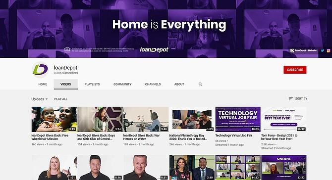 loanDepot's YouTube channel