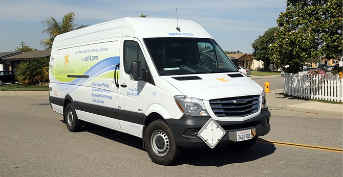 Apria Inc. home health firm van