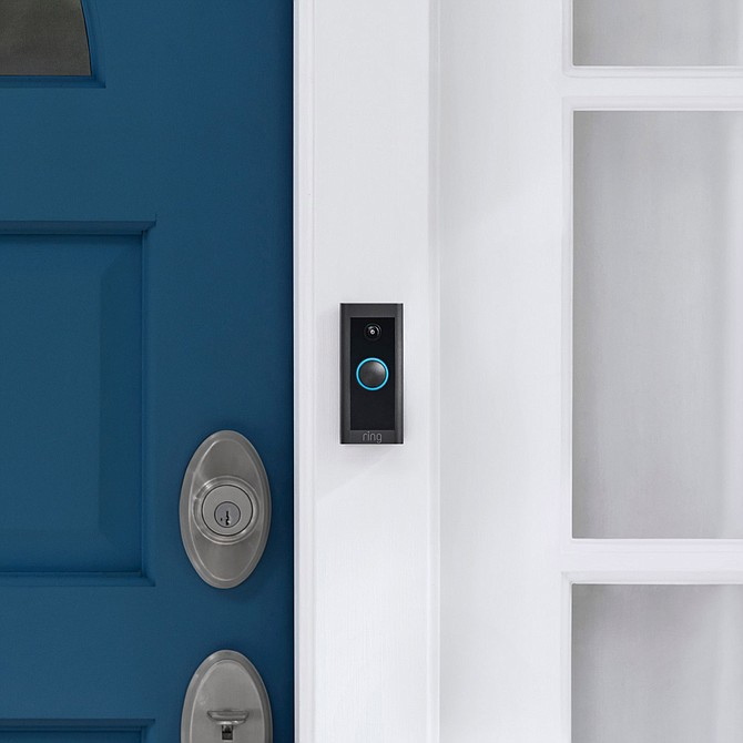 The new Ring Video Doorbell Wired.