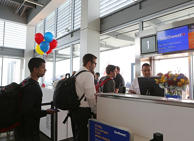 Passengers board first Southwest Airlines flight to depart from Long Beach Airport in June 2016. Photo courtesy of Southwest Airlines