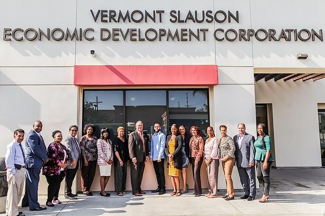 Vermont Slauson Economic Development Corp.'s staff.