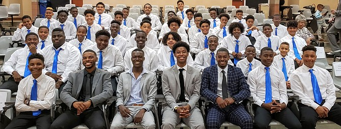 Group photo of Blue Heart Foundation students at the college signing day event to celebrate their accomplishments. Photo Courtesy of Tracy Morris.