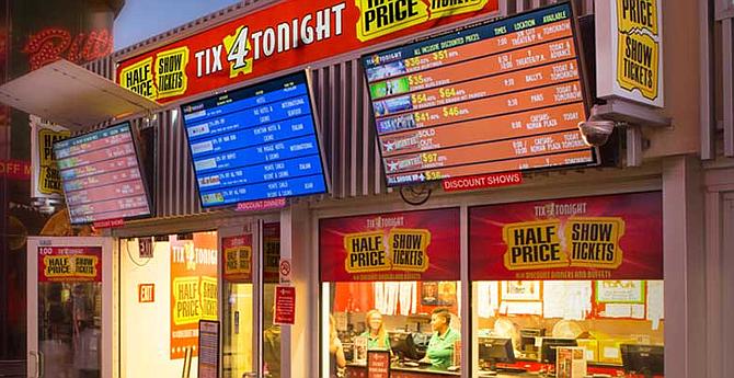 Tix booth in Las Vegas.