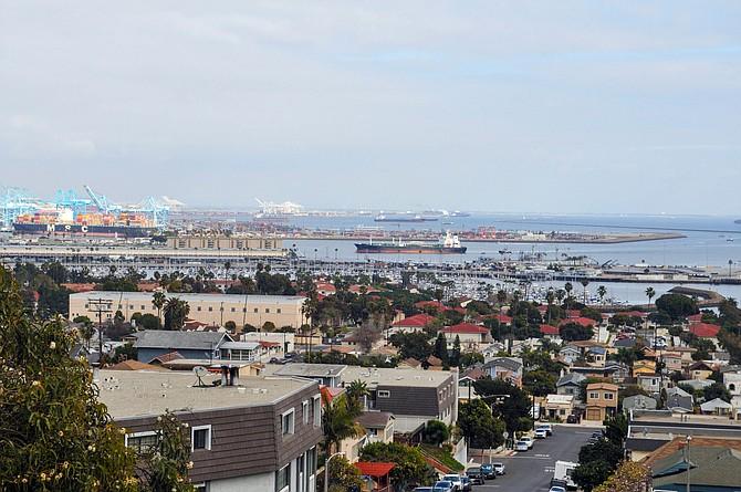 Tankers in San Pedro Bay.