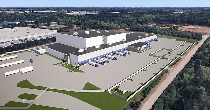 Rendering of Dole fruit-packing plant in McDonough, Ga.