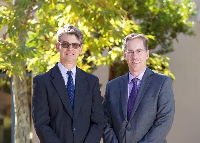 CERF's Dan Hamilton, left, and Matthew Fienup.