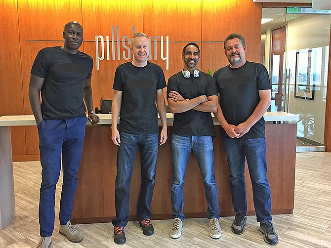 Pillsbury local team (From left to right) Thomas Tiop, Christian Salaman, Mustapha Parekh, and Martin Bridges at its San Diego Office.
