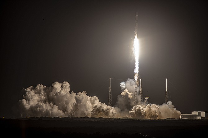 SpaceX launched 60 satellites Feb. 15.