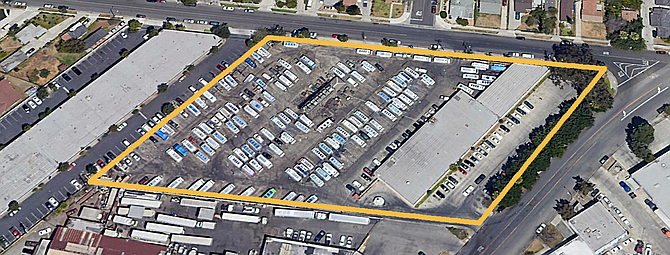 The site is near the 5 and 710 freeways.
