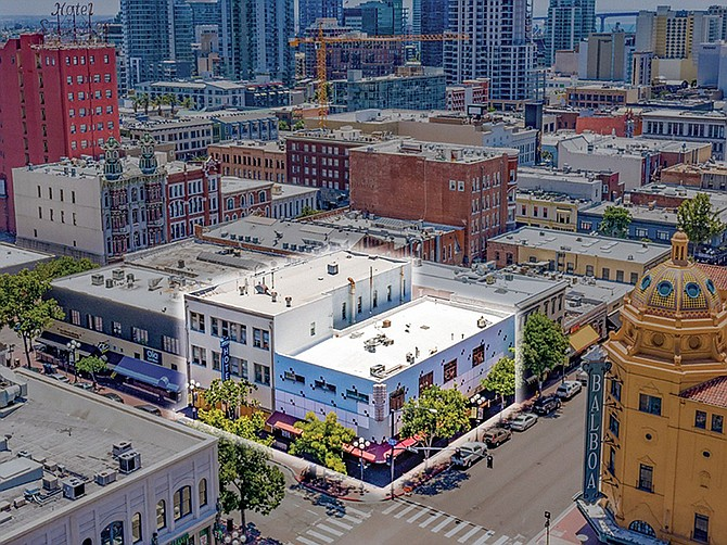 Photo courtesy of Marcus & Millichap. Caption: Gaslamp Quarter property that includes the Astor Hotel, the Star Bar and an adjacent building have been sold.