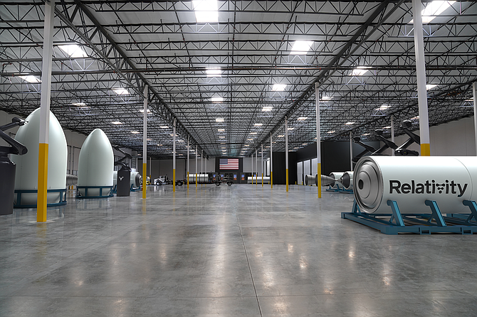 Relativity's manufacturing facility in Long Beach.