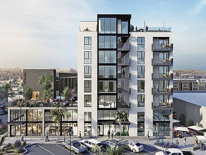 Rendering courtesy of The Miller Hull Partnership. A new development in National City combines residential, office and retail space.