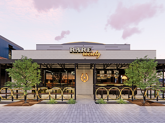 Rendering Courtesy of Trust Restaurant Group. Rare Society in Solana Beach, Trust Restaurant Group's seventh food offering and second Rare Society location, is scheduled to open early summer.