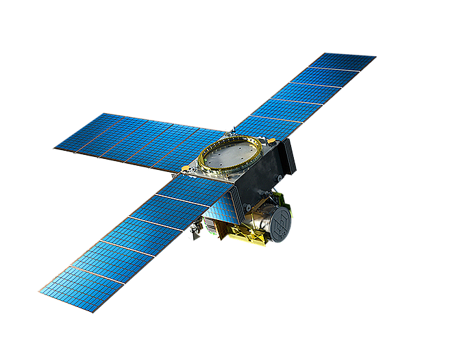 Rendering courtesy of General Atomics. A General Atomics satellite carrying a NASA sensor will launch in 2022.