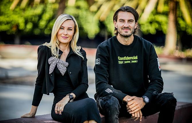 Podcorn founders, Agnes Kozera and David Kierzkowski.