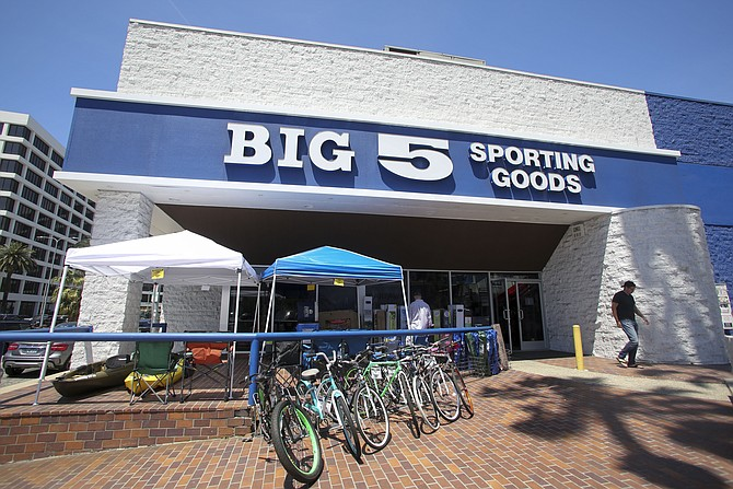 """Big 5 saw """"tremendous momentum"""" in its hard goods category."""