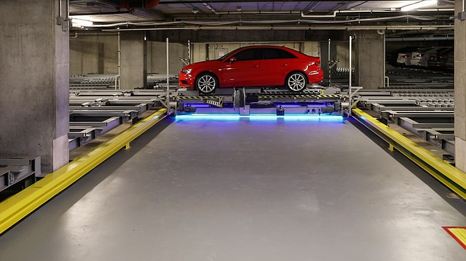 Automated garages rely on new technology and software to park vehicles. They can also hold more cars than conventional structures.