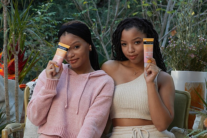 Neutrogena brand ambassadors and R&B duo Chloe and Halle Bailey.