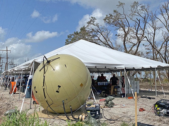 Cubic Corp. produces the GATR inflatable satellite dish. Singapore Technologies Engineering has made bids for Cubic, which has committed to be acquired by Veritas Capital and Evergreen Coast Capital. Photo courtesy of Cubic Corp.