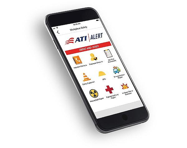 Newly released ATI Alert app, initially for company employees, now for customers