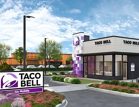 A Taco Bell Go Mobile concept focused on making digital orders more efficient at the resaurant level