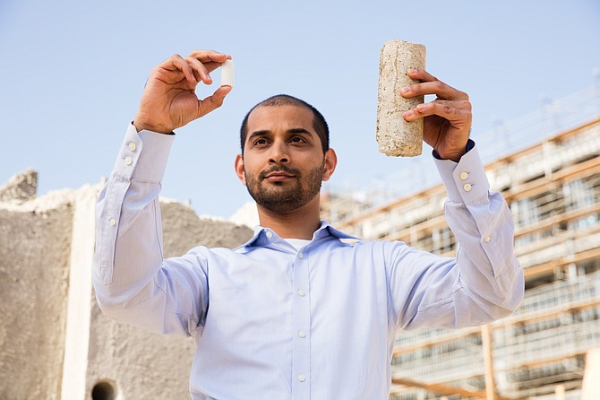 Sant's team developed technology to make concrete with carbon dioxide emissions.