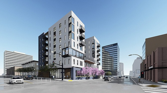 Affirmed Housing is building an affordable housing complex in the Cortez Hill neighborhood. Photo courtesy of Affirmed Housing.