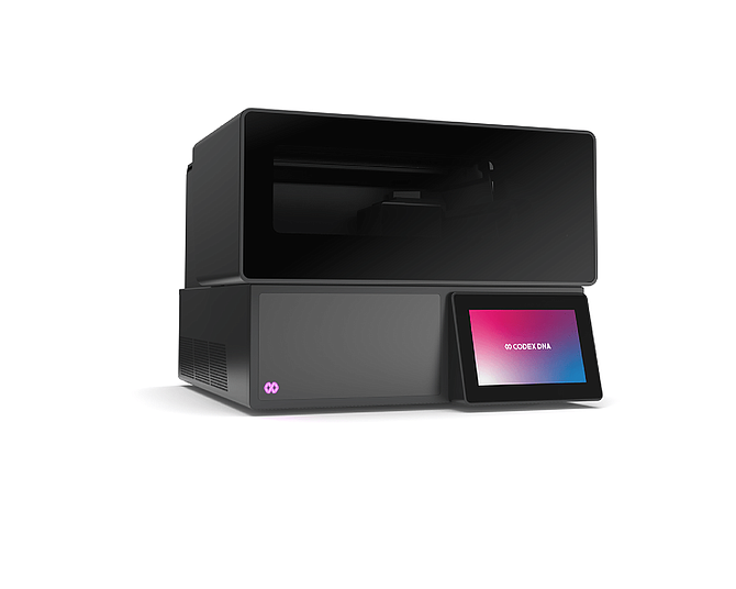 Codex DNA created the BioXp system, the world's only fully automated benchtop instrument that enables numerous workflows for generating synthetic DNA and mRNA. Photo Courtesy of Codex DNA.