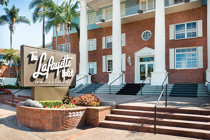 San Diego's historic Lafayette Hotel in North Park has been sold for $25.8 million. Photo courtesy of Hostmark Hospitality Group.