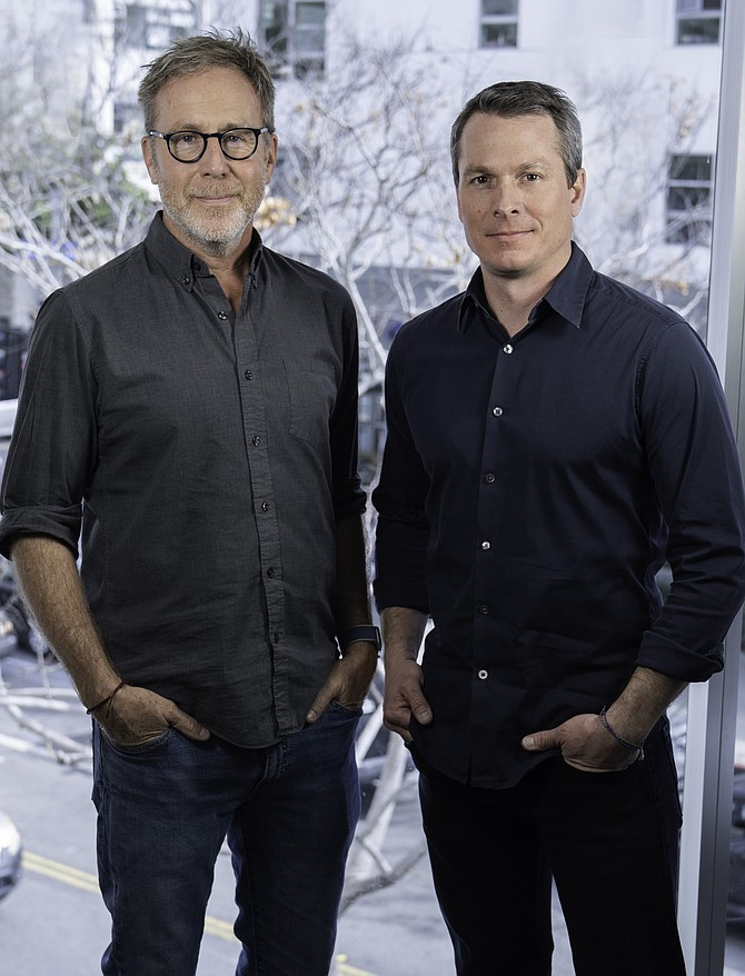 Tagger CEO Dave Dickman and founder and president Peter Kennedy.