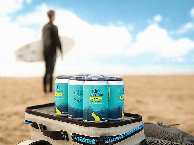 Athletic Brewing Company, founded in 2017 and headquartered in Miramar, grew revenue over 500% in 2020. Photo courtesy of Athletic Brewing Company.