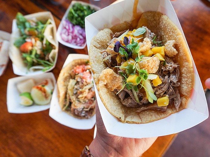 City Tacos, founded in 2014, recently opened a seventh location in Downtown San Diego. The new outpost is located next to Petco Park. Photo courtesy of City Tacos.