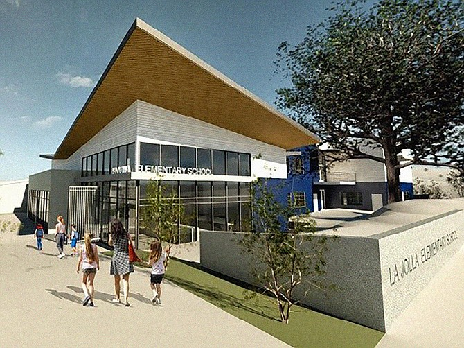 La Jolla Elementary School is among two schools being renovated by C.W. Driver Companies. Rendering courtesy of domusstudio architecture.