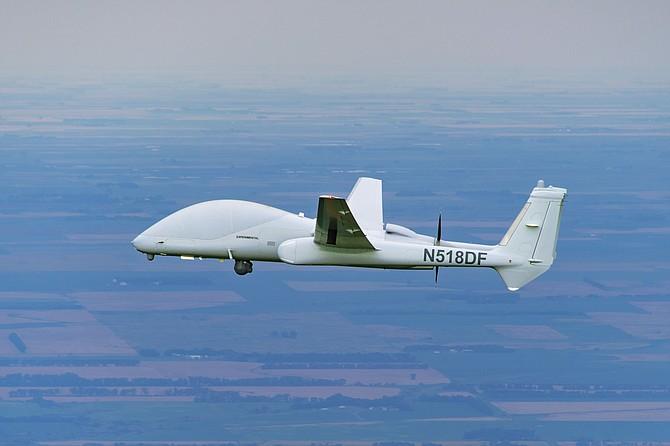 Northrop Grumman's Firebird aircraft flies in its unmanned configuration. Photo courtesy of Northrop Grumman Corp.