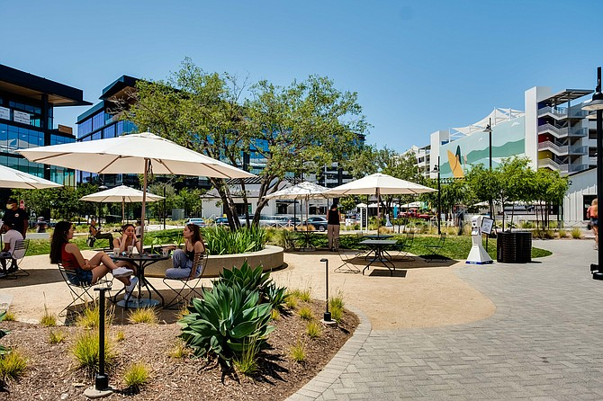 One Paseo in Carmel Valley is among the retail centers weathering the pandemic. Photo courtesy of Kilroy Realty Corp.
